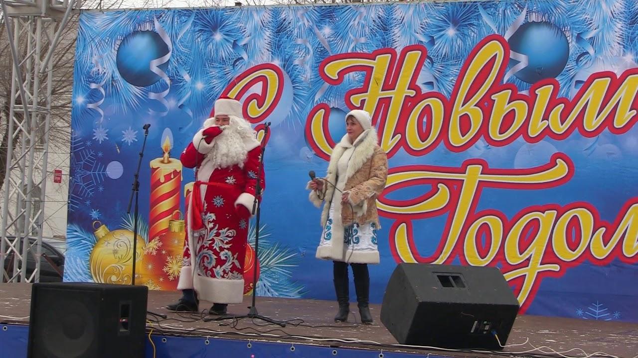 Рождественские гуляния на центральной площади Быково