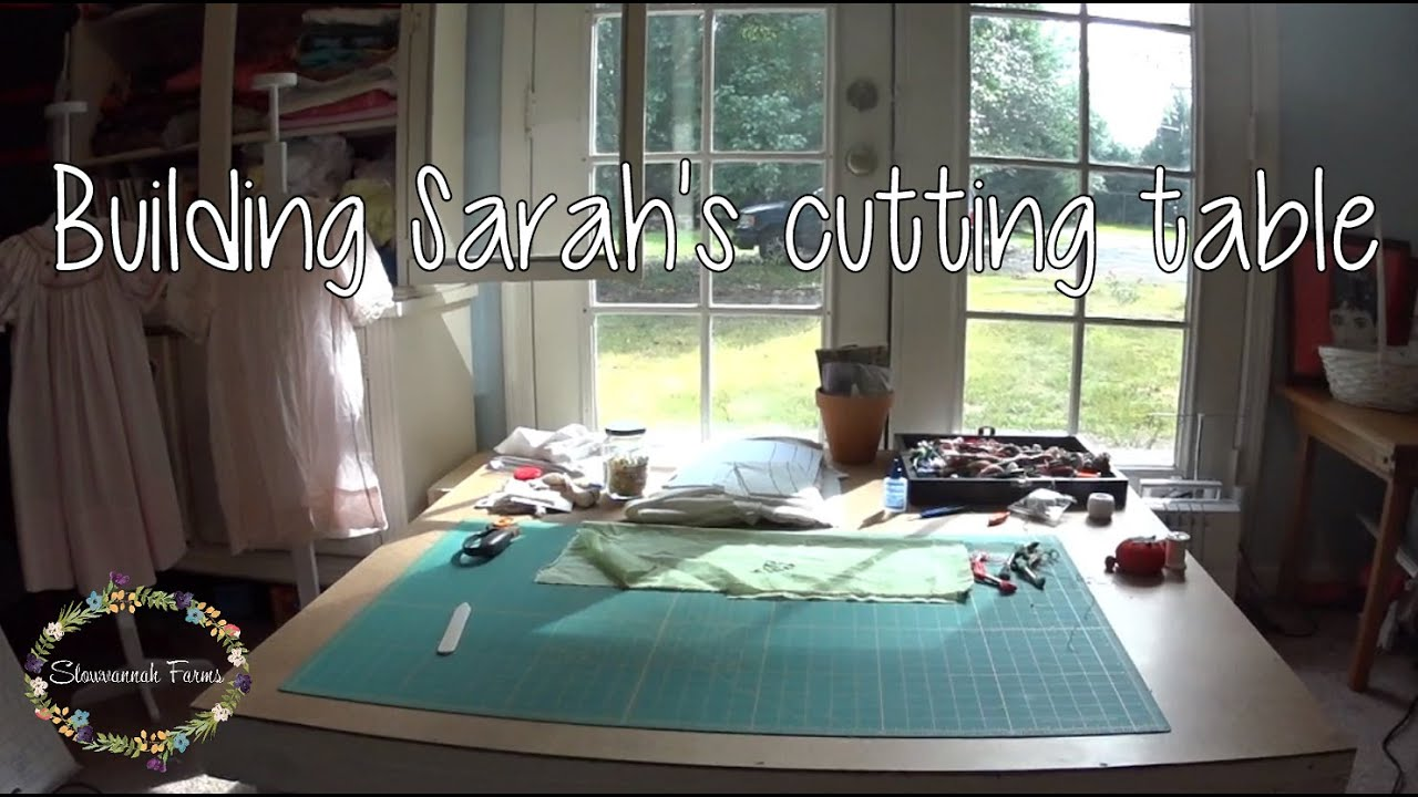 Diy cutting table - Building Sarah S Cutting Table Sewing Room Quick And Simple