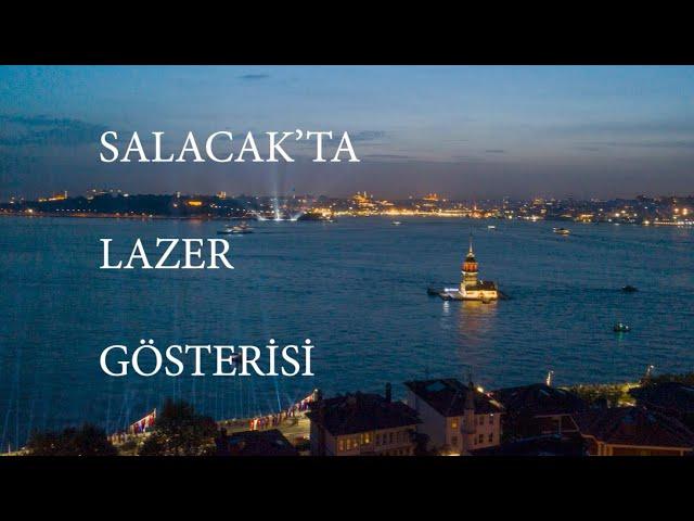 Salacak'ta lazer gösterisi - Laser show in Salacak - Turkiye