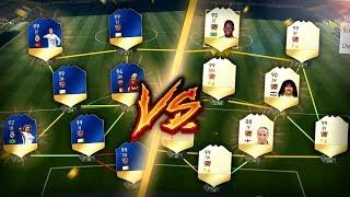 FIFA 17: FULL TOTS vs FULL LEGEND SQUAD! 🔵🆚⚪️