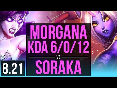 MORGANA & Karthus vs SORAKA & Sivir (SUPPORT) | KDA 6/0/12, Dominating | Korea Challenger | v8.21