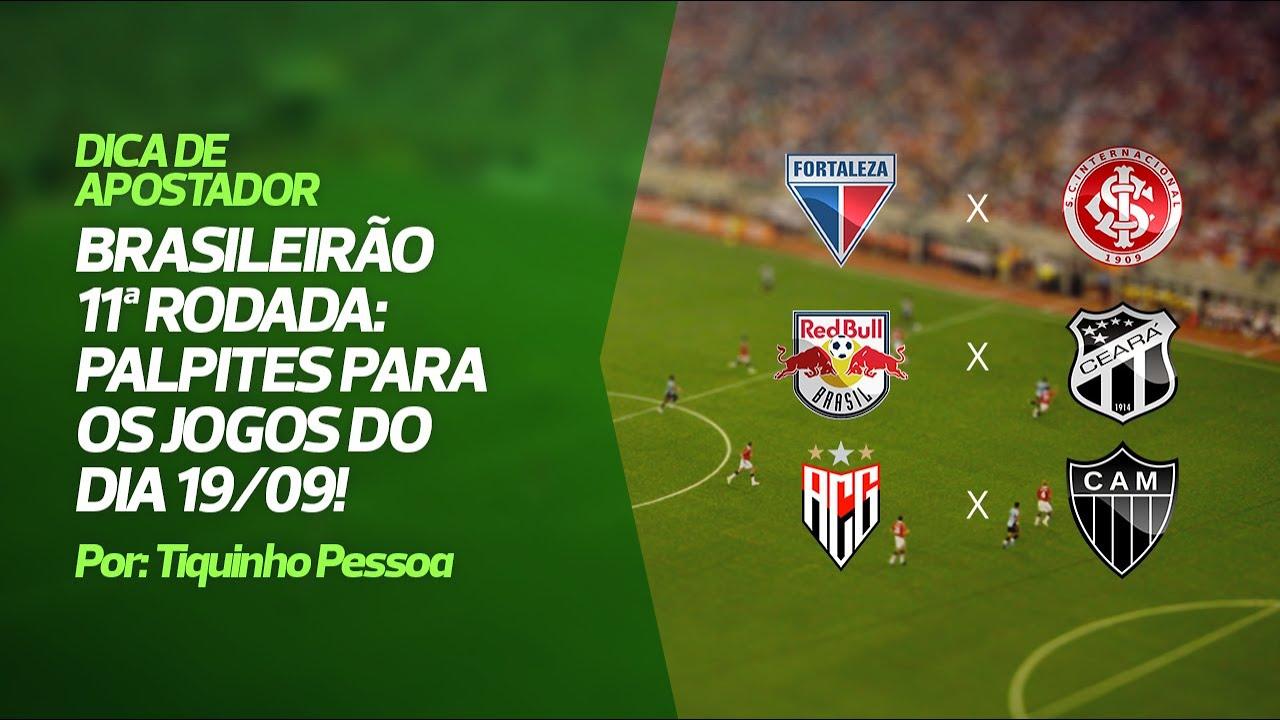 Palpites Brasileirão 11ª rodada - Jogos 19/09/2020