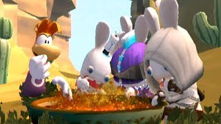 Rayman Raving Rabbids 2 - All Minigames (4 Player)