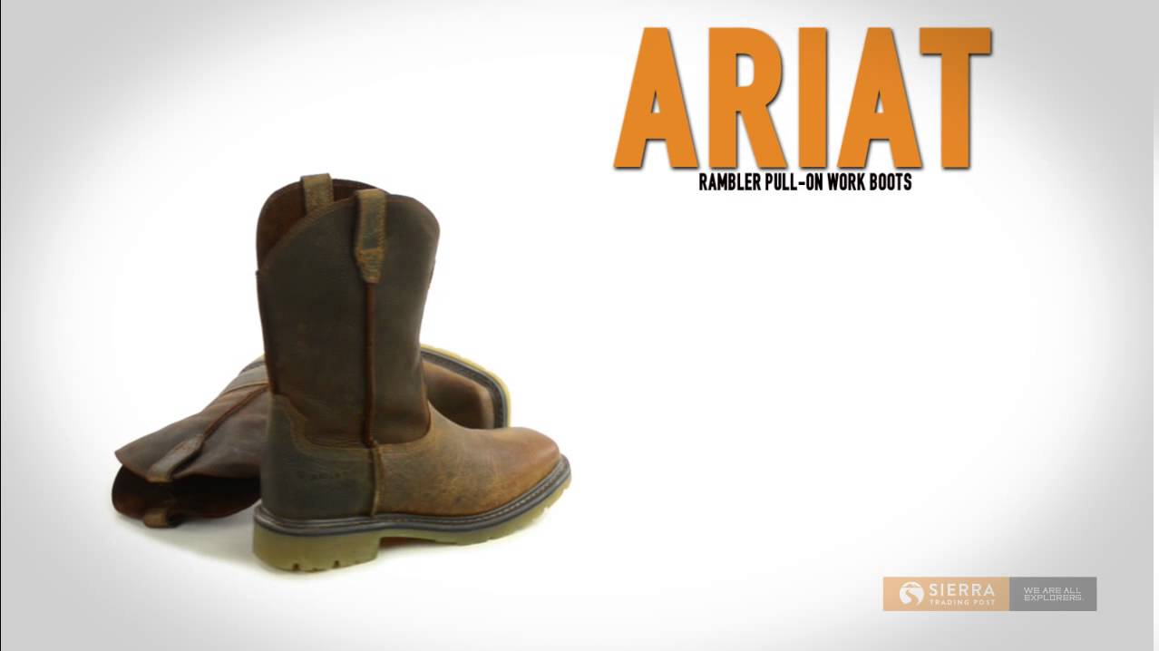 Ariat Rambler Pull-On Work Boots (For Men) - YouTube