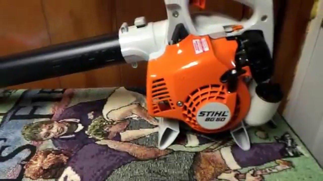stihl bg 50 blower   first look