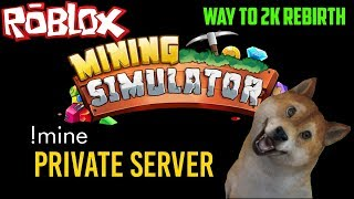 Roblox Mining Simulator Private Server🔴Hat Giveaway(Except Limited)