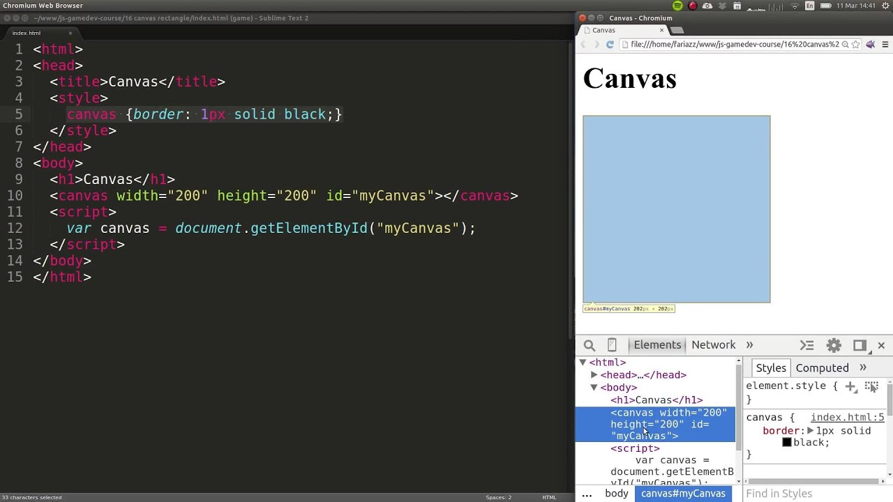 How to Draw a Rectangle in the HTML5 Canvas for Beginners