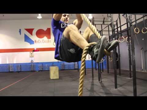 CrossFit rope climbing techniques with Jason Khalipa