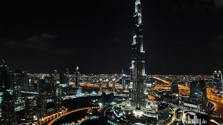 Burj Khalifa at NIGHT / Stunning NIGHT LIGHTS