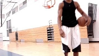 Slow-Mo Move- In & Out Crossover Quick-Behind Left Hand Layup | @DreAllDay