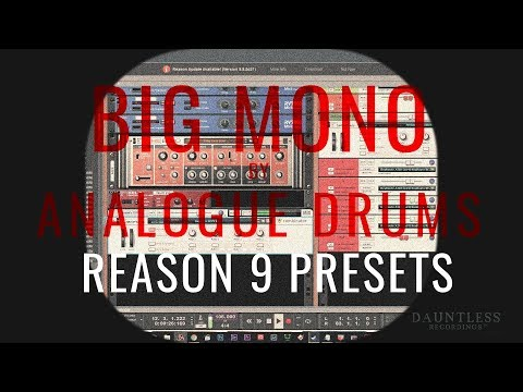 FREE Reason 9 Presets/Mappings for Big Mono by Analogue Drums