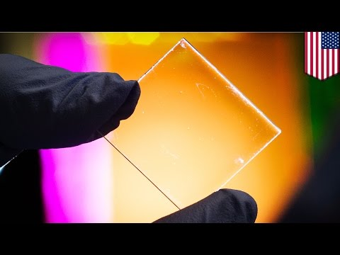 Transparent solar panel developed by MSU absorbs invisible ultraviolet rays