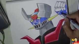 Drawing Mazinger z (Dibujando a Mazinger Z)NITO OCHOAヽ(^o^)丿