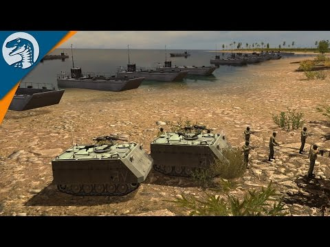 NAVAL LANDING UNDER FIRE | Israel Nation Pack | Wargame: Red Dragon DLC Gameplay
