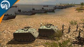 NAVAL LANDING UNDER FIRE | Israel Nation Pack | Wargame: Red Dragon DLC Gameplay