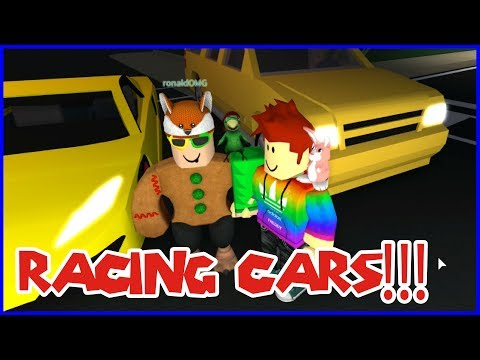 Racing Street Cars in Roblox with RonaldOMG!!!