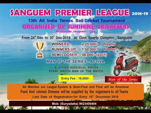 SANGUEM PREMIER LEAGUE 2018-2019 || SANGUEM | GOA || FINAL DAY