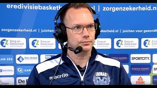 20190514 Leiden - Groningen game 3, gesprek met de coaches