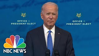 President-Elect Biden Speaks After Electoral College Vote   NBC News NOW