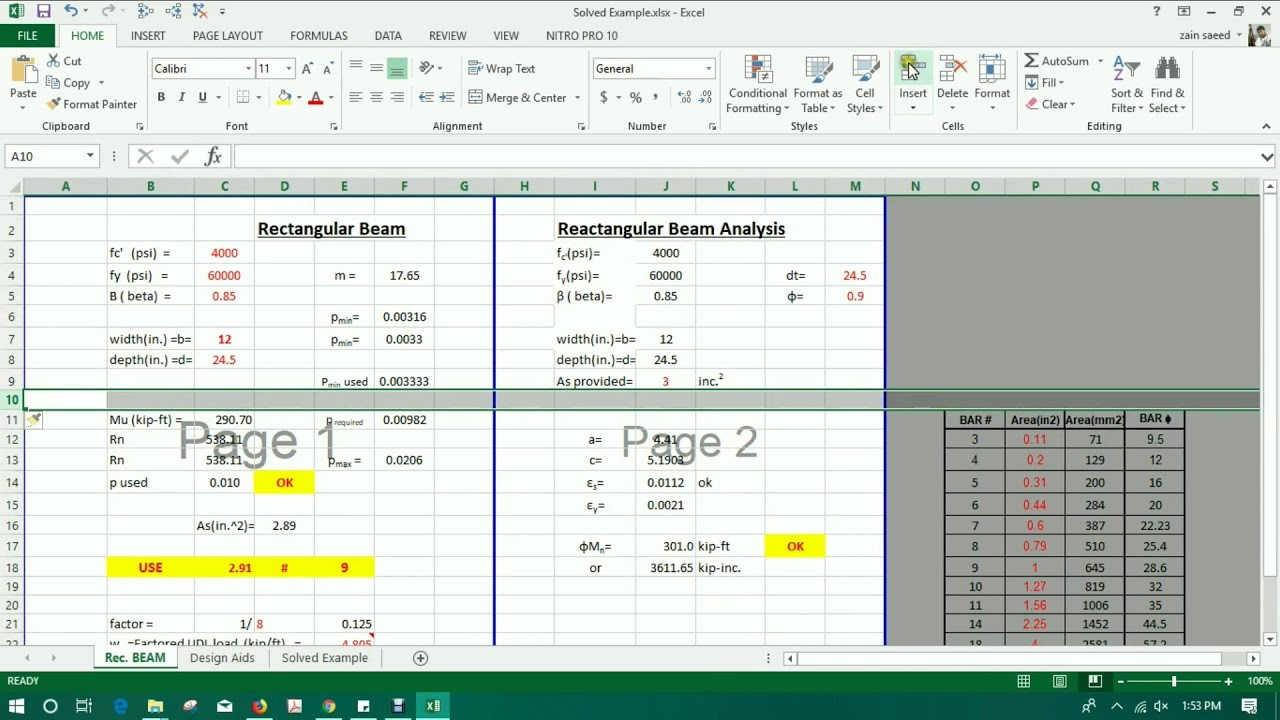 Introduction to Excel for Civil Engineers