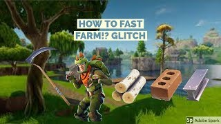 HOW TO HARVEST/FARM MATERIALS FASTER! Fortnite Battle Royale glitch/Pro tip (CONSOLE AND PC)