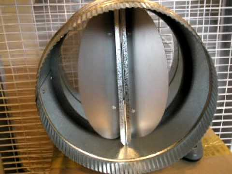 Butterfly Backdraft Damper For Round Air Duct By Luxury