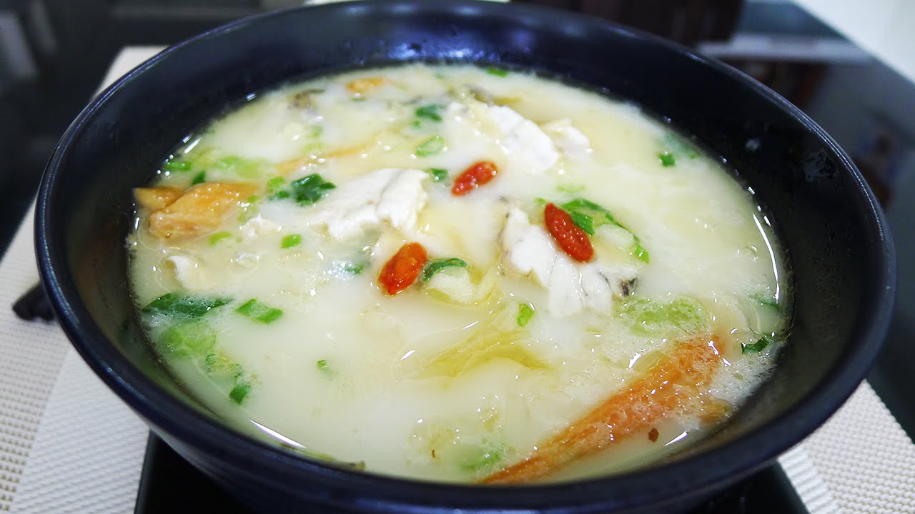 Chinese milky fish soup s p c n u s a youtube for Fish soup recipes