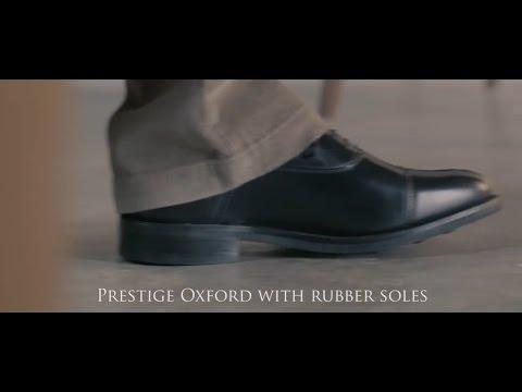 0f63e0281642 Prestige Oxford Shoe - Rubber Sole in black from Samuel Windsor ...