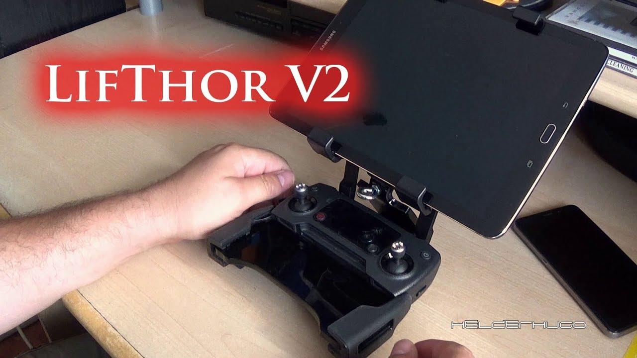 74ed0b97235 LifThor V2 holder for Dji Mavic Pro Controller with PGYTECH Monitor Hood