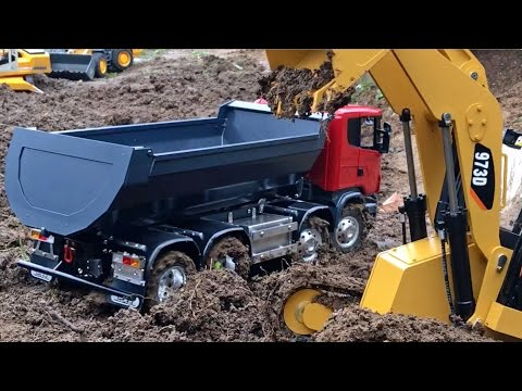 ✅  BRUDER Toy TRUCKS 🚜 Excavator RC Vehicles Heavy MUD BATTLE Long Play
