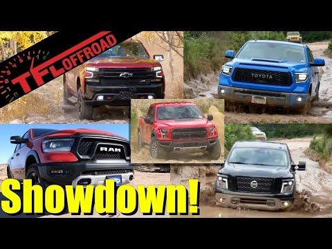 Here is The Best Off-Road Half-Ton Truck! Raptor vs Rebel vs TRD Pro vs Trail Boss vs Pro-4X