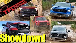Here is The Best Off-Road Half-Ton Truck! Raptor vs Rebel vs TRD Pro vs Trail Boss vs Pro-4X