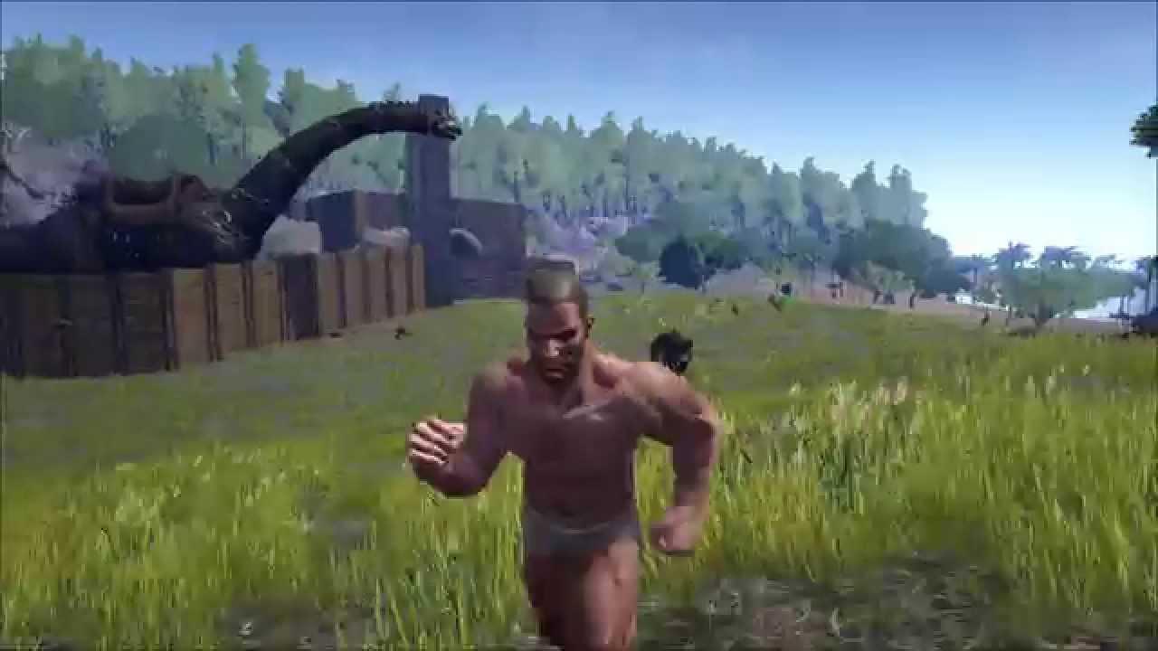 man Naked running