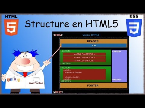 HTML5 / CSS3 - 08 - Structure HTML5