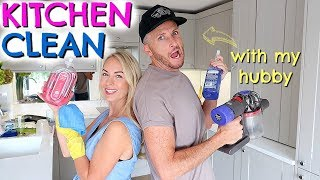KITCHEN DEEP CLEAN & ORGANISE WITH US  |  CLEANING WITH MY HUSBAND  |  EMILY NORRIS