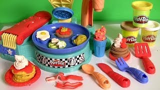 Play Doh Flip n Serve Breakfast Waffles Pancakes Bacon Smoothies Play Dough Cocina para Desayuno