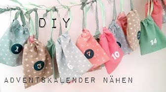 DIY   Adventskalender nähen   Adventskalenderbeutel nähen ohne Schnittmuster   DIY Kajuete