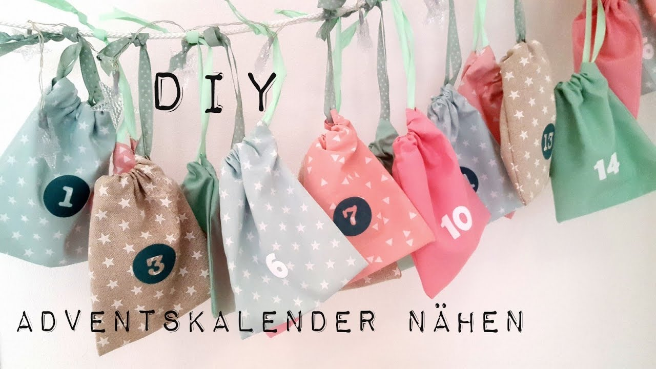 diy adventskalender n hen adventskalenderbeutel n hen ohne schnittmuster diy kajuete youtube. Black Bedroom Furniture Sets. Home Design Ideas