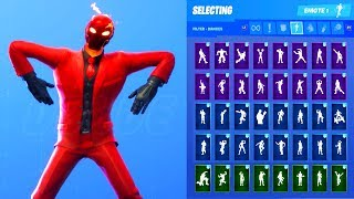 INFERNO SKIN SHOWCASE WITH ALL FORTNITE DANCES & EMOTES