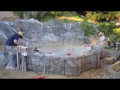 Koi pond construction part 4 shotcrete doovi for Koi fry pool