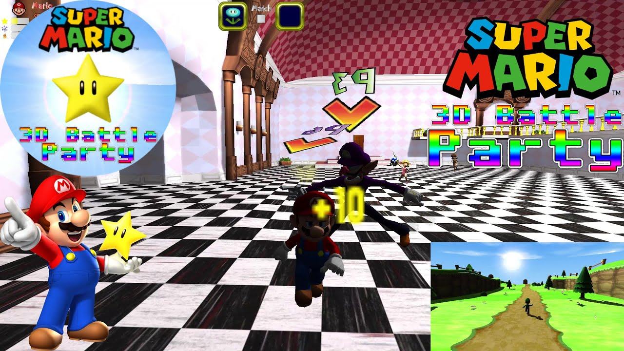 Super Mario 3D Battle Party PC Gameplay | 1080p 60fps