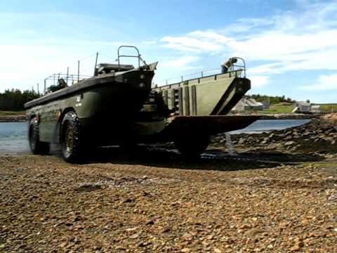 LARC LX Sea Truk 52 coming out of the water with a light load