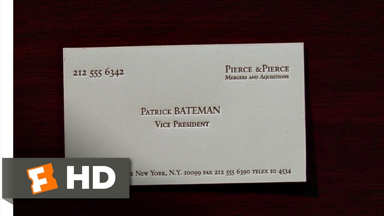 American psycho 212 movie clip business cards 2000 hd youtube flashek Choice Image