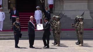 Condecoración al estandarte de la operación militar Chavín de Huántar