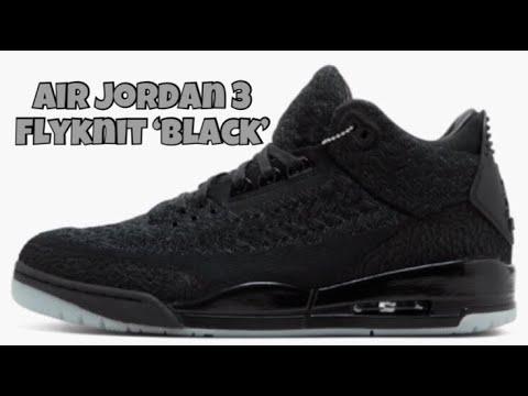 Air Jordan 3 Flyknit  Black  0823ac9bd