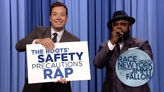 The Roots Safety Precautions Rap | Race Through New York Starring Jimmy Fallon Video
