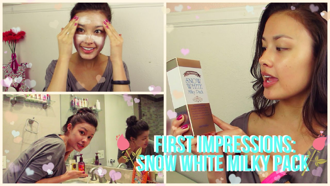 First Impressions Secret Key Snow White Milky Pack Whitening Mask Cream Review Youtube