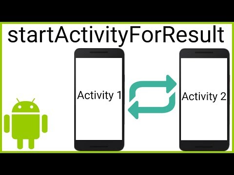 Send Data Back From Child Activity With StartActivityForResult - Android Studio Tutorial
