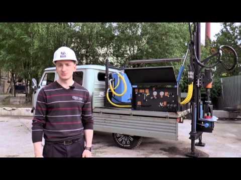 """Малогабаритная буровая установка Вектор """"ВР-2.200"""" на базе УАЗ «Фермер» со сдвоенной кабиной"""
