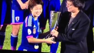 ⚽女子アジア杯初優勝表彰式